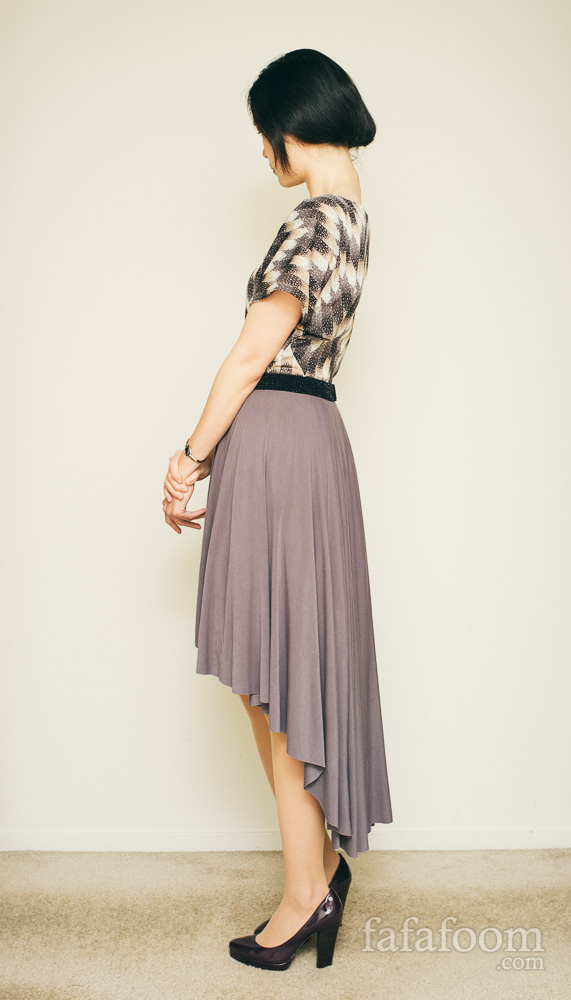Result: High-Low Circle Skirt Dress - DIY Fashion Garments | fafafoom.com