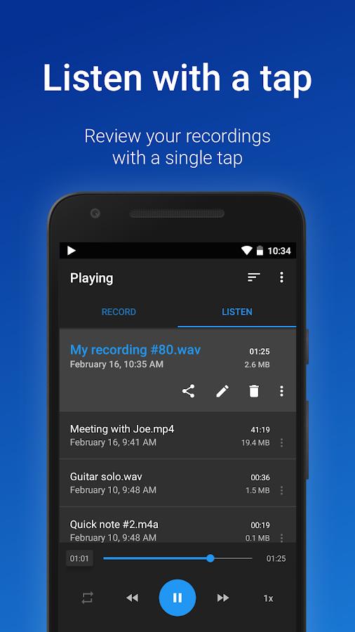 Easy Voice Recorder Pro- screenshot