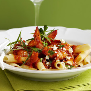 Shrimp and Feta Pasta.