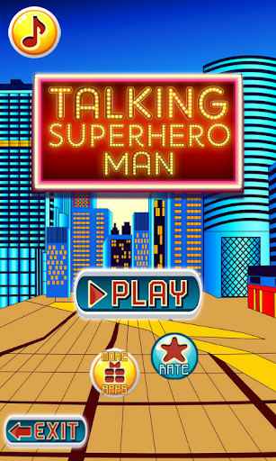 Talking Superhero Man 1.8 screenshots 13