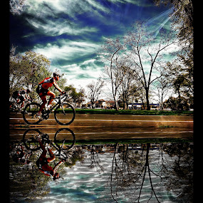Trek Lake by Brandon Rose - Sports & Fitness Cycling ( water, sky, fitness, cycling, sport, landscape )