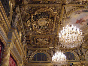 Photo: The elaborate boxed ceiling is decorated with panels painted by Guilaume Dubufe in 1896.