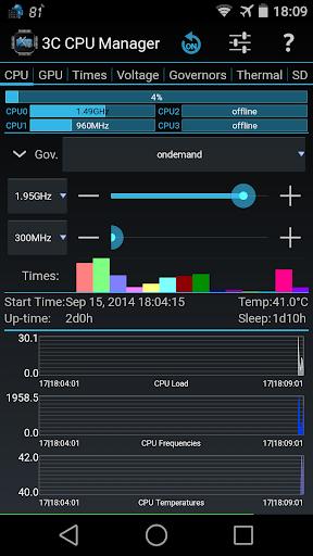 3C CPU Manager screenshot 1