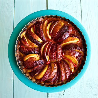 Peach Pepper Tart with Mascarpone topping