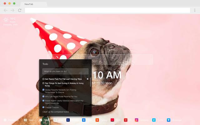 Christmas Dog New Tab HD Popular Pets Theme