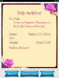 Party invitation card designer apps on google play screenshot image stopboris Images