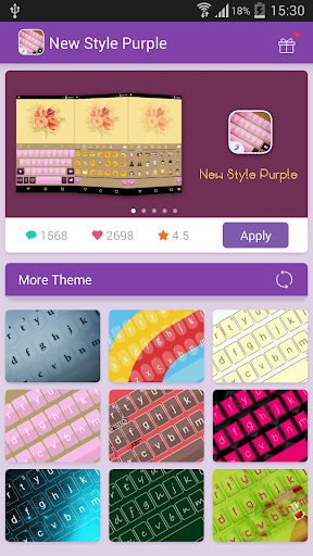 Emoji Keyboard-NewStyle Purple