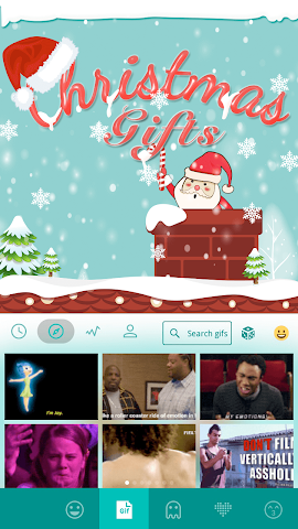 android Christmas Gifts Emoji Keyboard Screenshot 2
