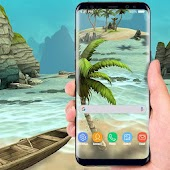 Beach Live Wallpaper HD Background: Island 3D