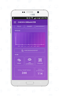 ChkdIn Event Organizer Application - náhled
