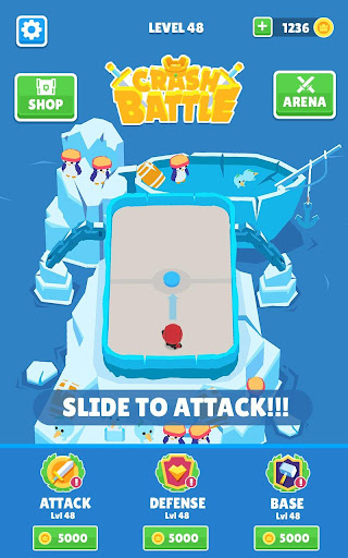 Crash Battle - Idle Heroes & Disc Wars Hockey  captures d'écran 1