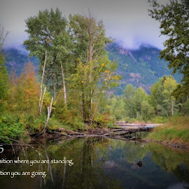 Success by Lena Arkell - Typography Captioned Photos ( water, motivational, stream, mountains, british columbia, inspirational,  )