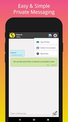 Splansh - Talk to Strangers, Share Mood & Quotes screenshot 4