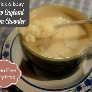 Quick and Easy New England Clam Chowder (Gluten-Free, Dairy-Free)
