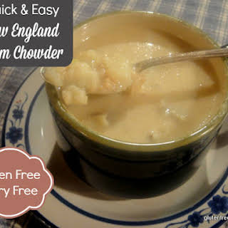 Quick and Easy New England Clam Chowder (Gluten-Free, Dairy-Free).