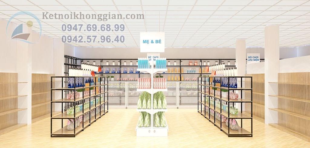 Thiết kế siêu thị mini đẳng cấp, hiện đại mà đơn giản