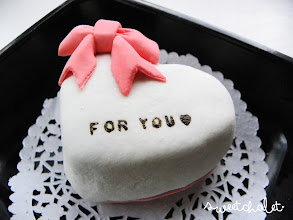 Photo: Heart shaped mini cake for Valentine's Day - Perfect for two
