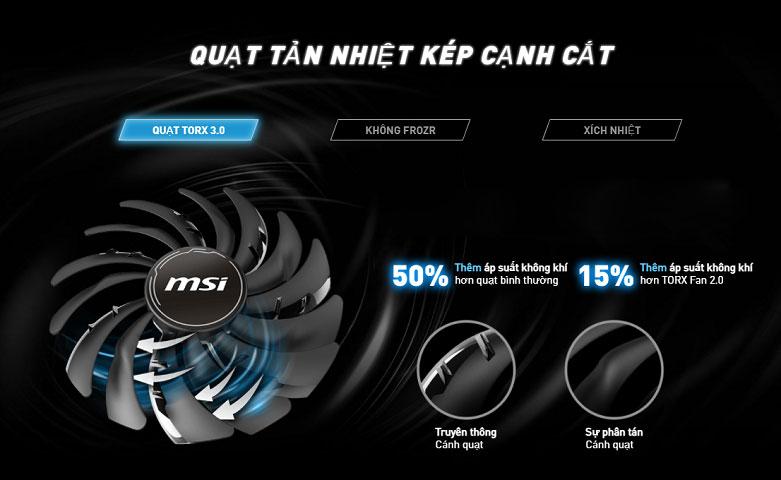 VGA MSI GeForce RTX 3060 VENTUS 2X 12G OC | Quạt tản nhiệt kép