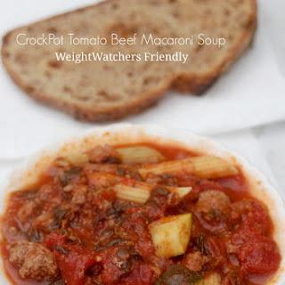 Beef Macaroni Soup Crock Pot Recipes.