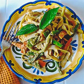 Peanut-Free Tahini Vegetable Noodle Stir Fry
