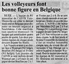 Photo: 05-09-96 R1M Tournoi de préparation en Belgique