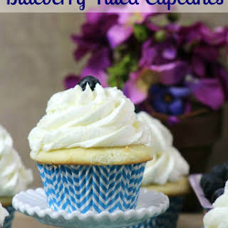 Blueberry Filled Cupcakes.