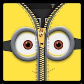 Zipper Lock Screen Yellow