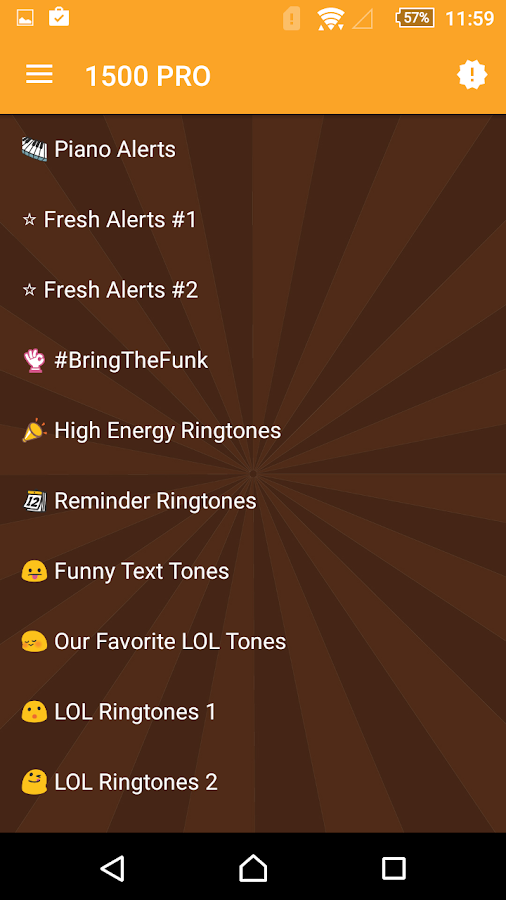 1500 Ringtones Unlimited- screenshot