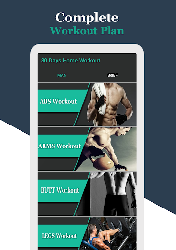30 Day Challenge Man Home Fitness Workout 1.0 screenshots 1