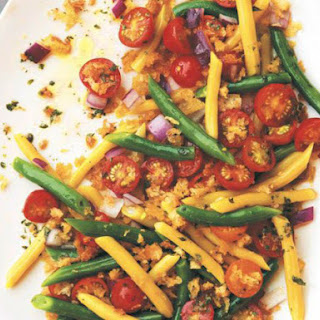 Cherry Tomato, Green Bean, and Wax Bean Salad with Herbed Bread Crumbs from 'Kitchen Garden Cookbook'