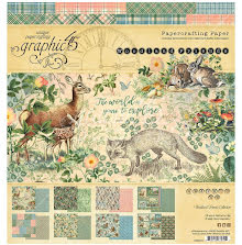 Graphic 45 Double-Sided Paper Pad 8X8 24/Pkg - Woodland Friends