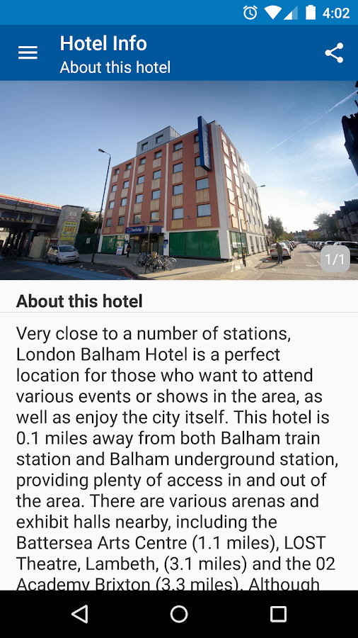 Travelodge Hotels- screenshot
