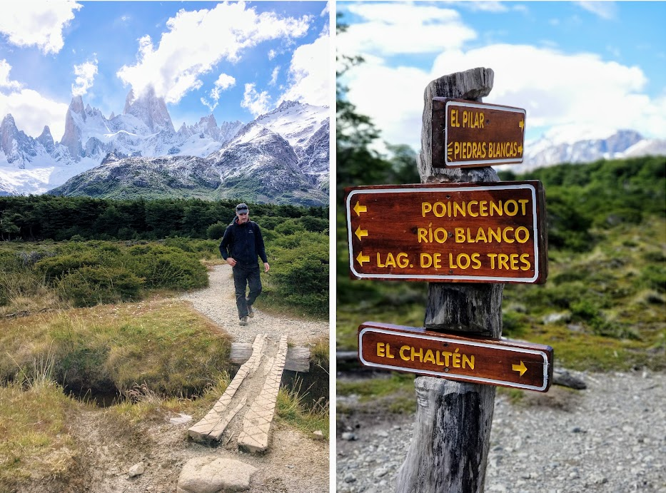 The hiking trails around El Chalten are nicely signed and easily accessible from the town.