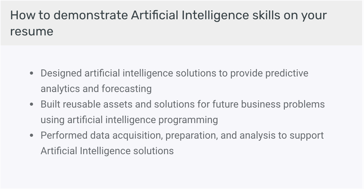 How to demonstrate your AI skills on your resume