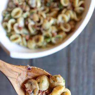 Orecchiette Pasta with Mushrooms and Pancetta Recipe