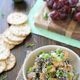 "Sweet Potato and Black Bean ""Chicken"" Salad."