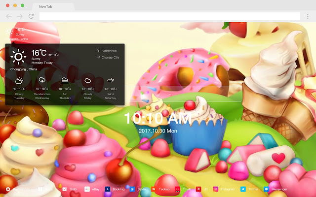 Candy Garden Pop Colors HD New Tabs Theme