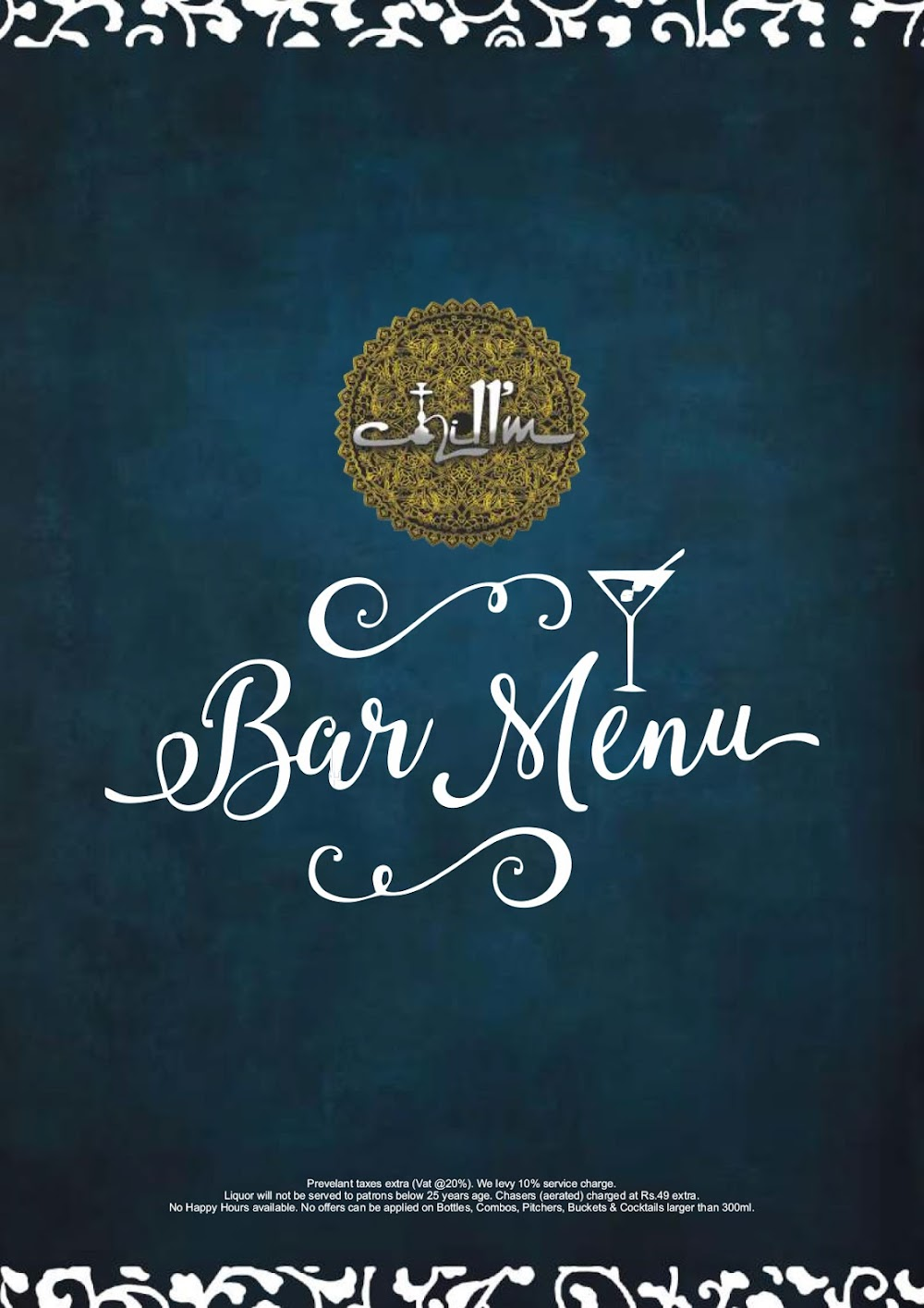 Chill'm Bar & Cafe menu 1