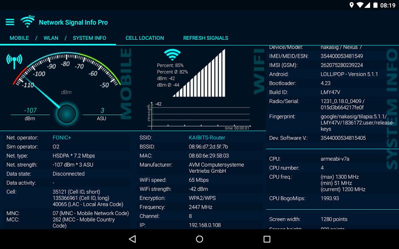 Network Signal Info Pro Screenshot 12