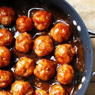Baked Sriracha Turkey Meatballs