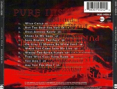 Scorpions - Pure Instinct back