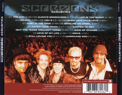 Scorpions - Acoustica back