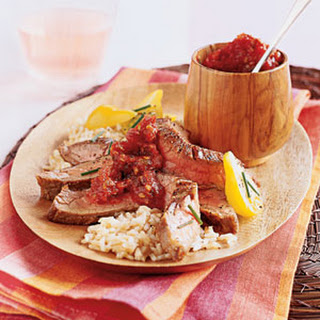 Fiery Flank Steak with Tomato Jam