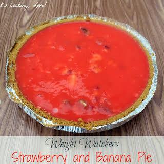Weight Watchers Strawberry and Banana Pie.