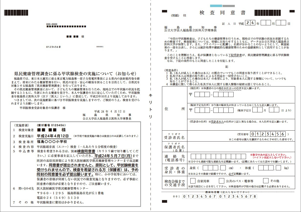 FukushimaVoice Consent Form for Thyroid Examination for Fukushima – Survey Consent Form