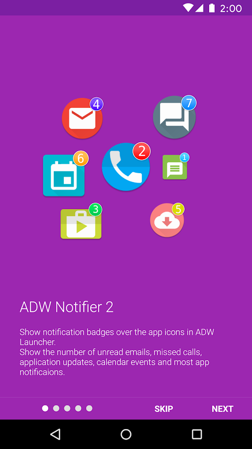 ADW Notifier 2: captura de pantalla