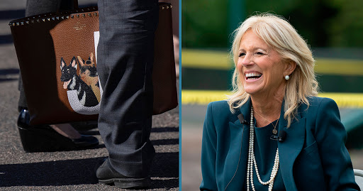 Jill Biden Has A Custom Valentino Bag With Champ And Major On It