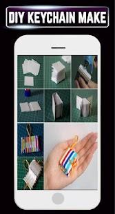 DIY Keychain Handmade Pom Pom Leather Making Home - náhled