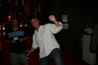 Photo: Doug Schaefer and Pascal Rapicault showing that Eclipse commiters are agile at SC2011