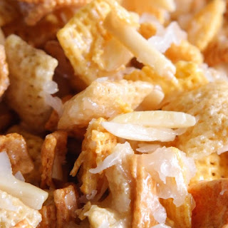 Mom's Coconut Almond Chex Mix.